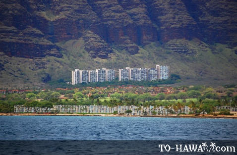 Makaha seen from the ocean