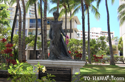 Statue of a Hawaiian queen