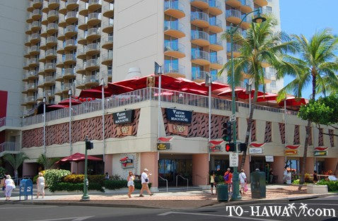 Located at the Aston Waikiki Beach Hotel