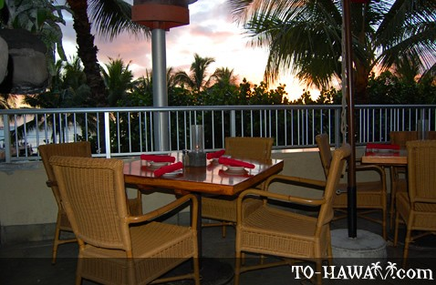 Romantic table on the lanai