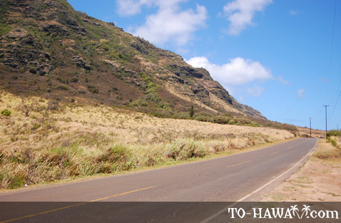 Driving to Ka'ena Point