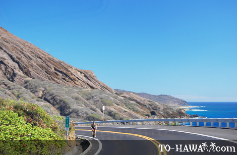 Scenic Oahu drive near Sandy Beach