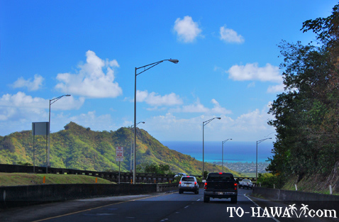 Driving to Kaneohe