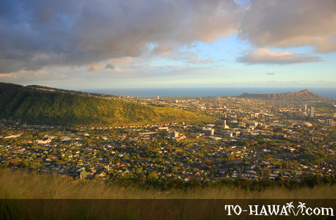Diamond Head and Honolulu