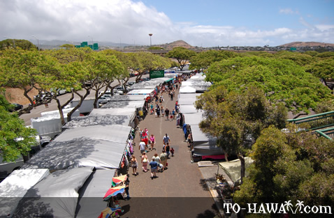 Aloha Stadium Swap Meet aerial view
