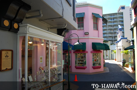 Boutique shops in Waikiki